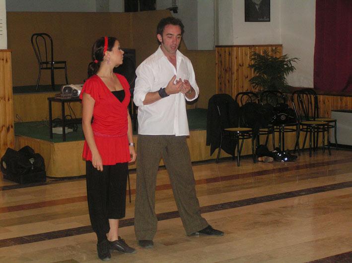 Lucilla y Joe lezione di tango Sala Primavera 3 Cesena 2007